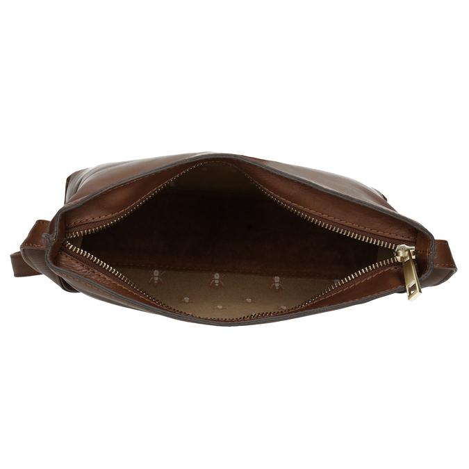 Kožená hnědá crossbody kabelka bata, hnědá, 964-3605 - 15