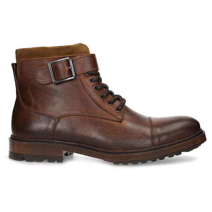 Hnědá pánská kožená kotníčková obuv bata, hnědá, 896-3731 - 19