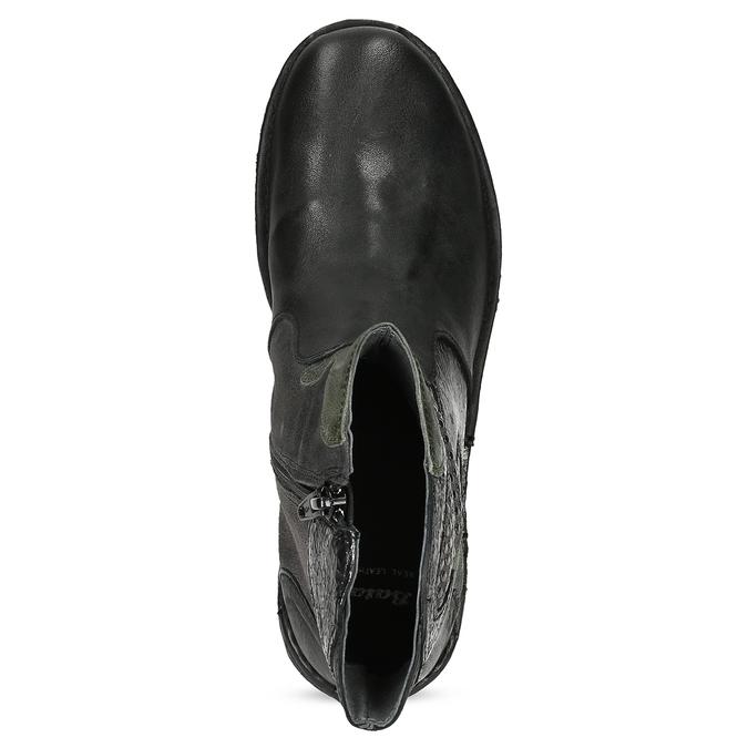 Kožená kotníčková obuv se cvočky bata, černá, 596-6742 - 17