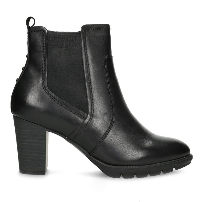 Kožené Chelsea na podpatku bata, černá, 794-6659 - 19