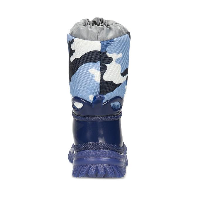 Modré dětské holínky s maskáčovým vzorem mini-b, modrá, 292-9301 - 15