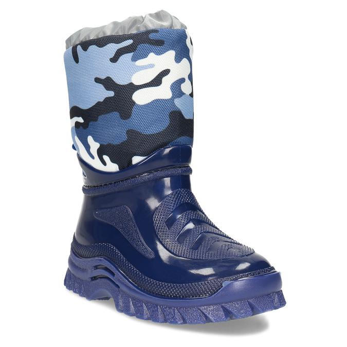Modré dětské holínky s maskáčovým vzorem mini-b, modrá, 292-9301 - 13