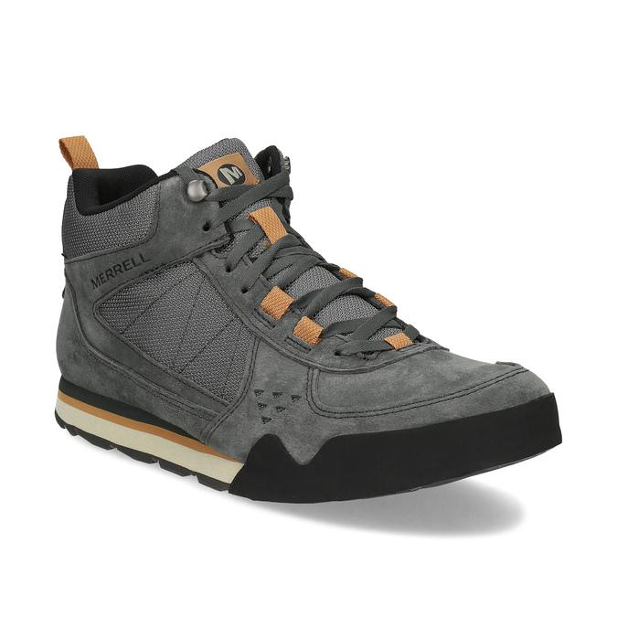 6f6b3eb43c8 Merrell Šedá kožená pánská kotníková obuv - Všechny boty