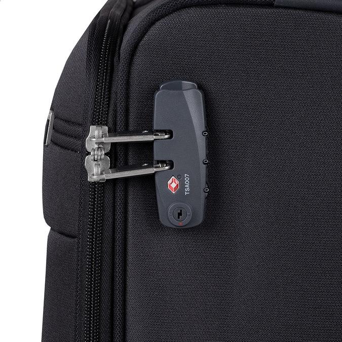 Černý textilní kufr na kolečkách samsonite, černá, 969-6618 - 15