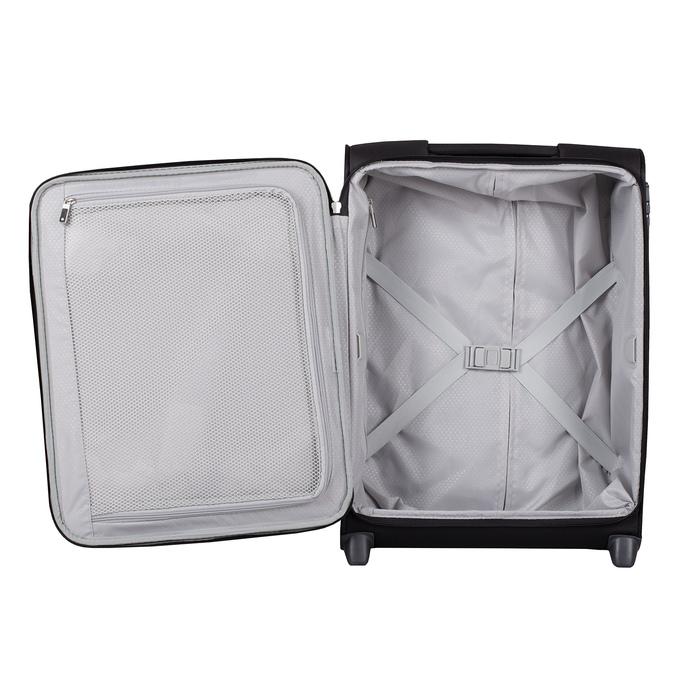 Černý textilní kufr na kolečkách samsonite, černá, 969-6618 - 17