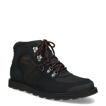 Pánská kožená zimní obuv se šněrováním sorel, černá, 826-6003 - 13