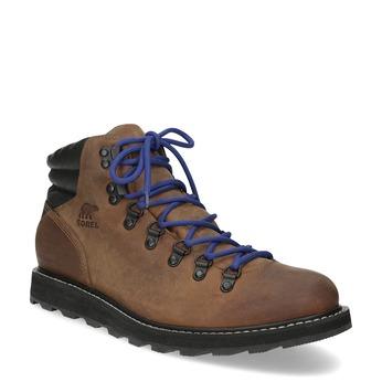 Kotníková pánská kožená obuv sorel, hnědá, 826-4009 - 13