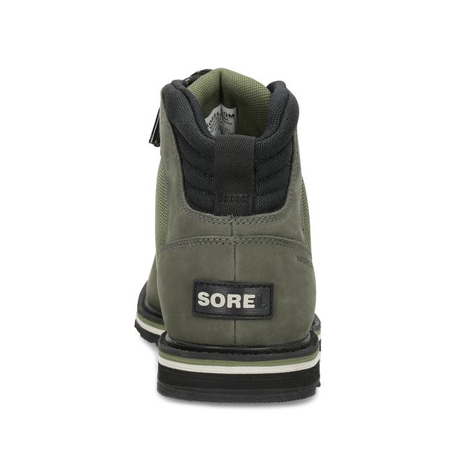 Pánská kotníková obuv se šněrováním sorel, zelená, 826-7003 - 15