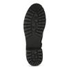 Černé dámské kozačky s kožíškem a přezkami bata, černá, 691-6642 - 18