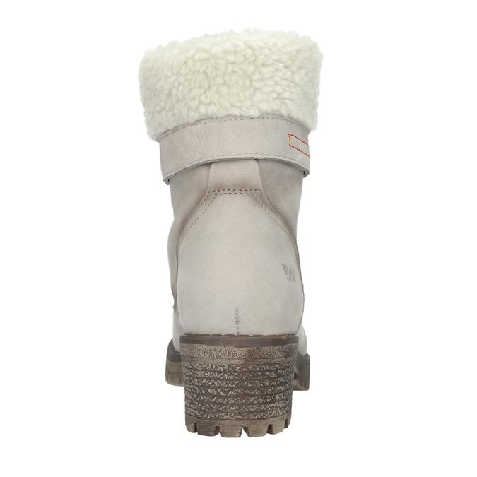 Kožená zimní obuv s kožíškem weinbrenner, béžová, 696-3336 - 15