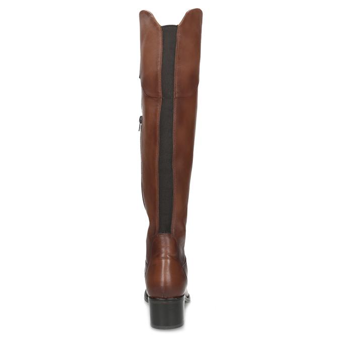 Kožené kozačky nad koleno hnědé bata, hnědá, 694-4666 - 15