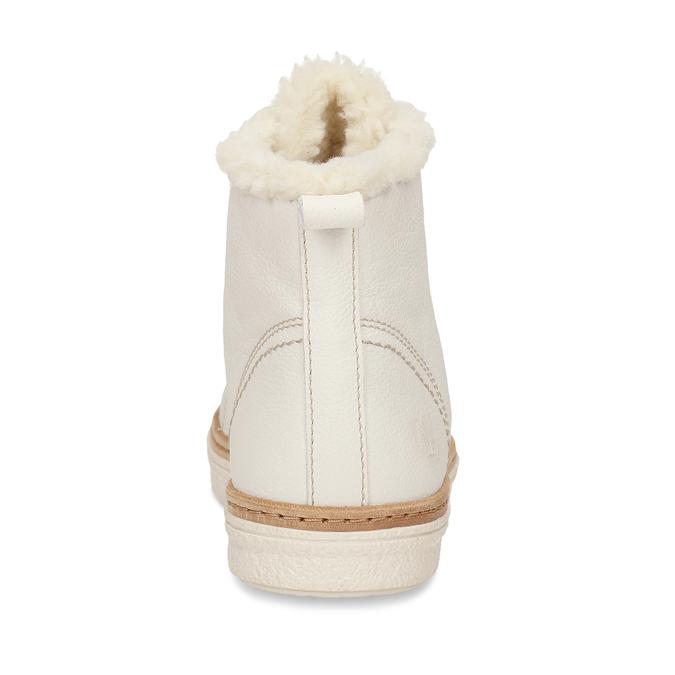 Bílá dámská kožená kotníčková obuv weinbrenner, bílá, 596-1754 - 15