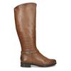 Hnědé kožené dámské kozačky bata, hnědá, 594-4676 - 19