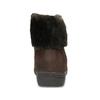 Kotníčkové kožené kozačky na klínku comfit, hnědá, 596-4711 - 15