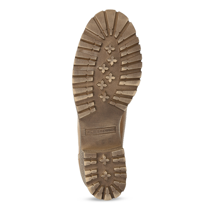 Dámská hnědá kožená kotníčková obuv weinbrenner, hnědá, 696-3668 - 18