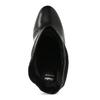 Černé kožené kozačky s řasením bata, černá, 794-6663 - 17