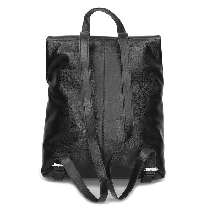 Kožený černý batůžek bata, černá, 964-6607 - 16