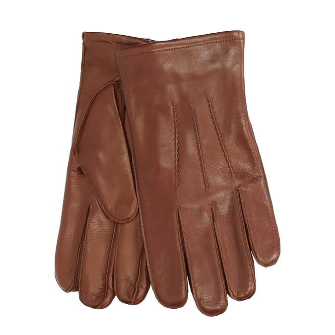 Baťa Pánské kožené rukavice hnědé - Pánské  02edbfcb09