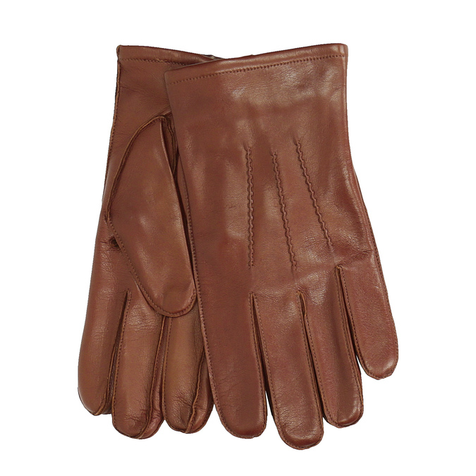 Pánské kožené rukavice hnědé bata, hnědá, 904-4143 - 13