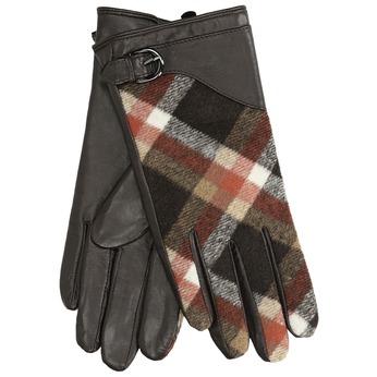 Dámské kožené rukavice kárované hnědé bata, hnědá, 904-4138 - 13