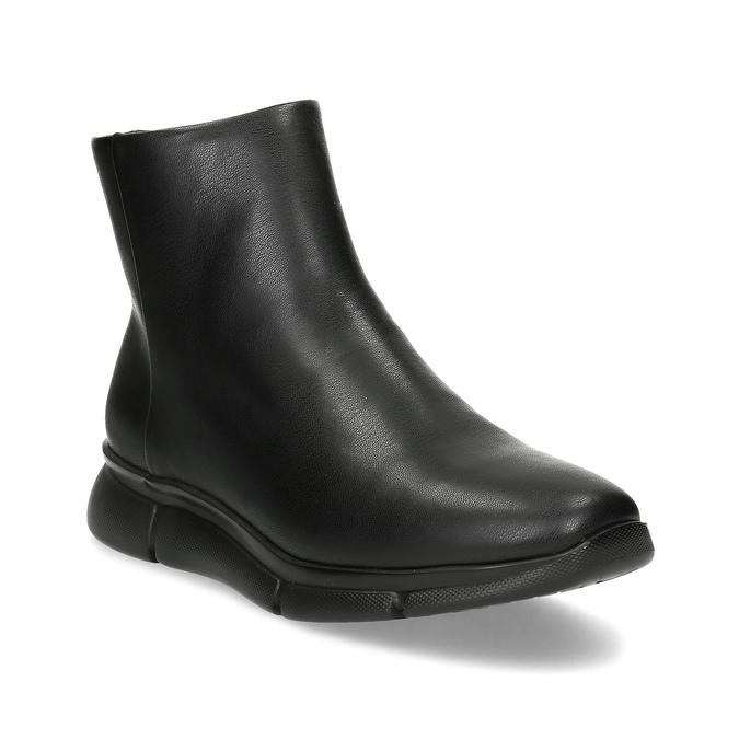 Dámská černá kotníčková obuv hladká bata-b-flex, černá, 591-6636 - 13