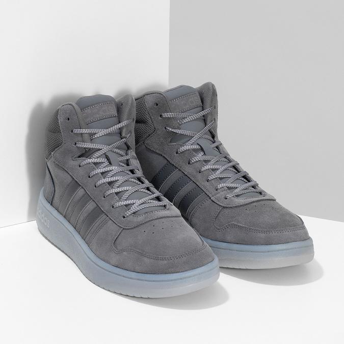 Pánské kotníčkové tenisky kožené šedé adidas, šedá, 803-2118 - 26
