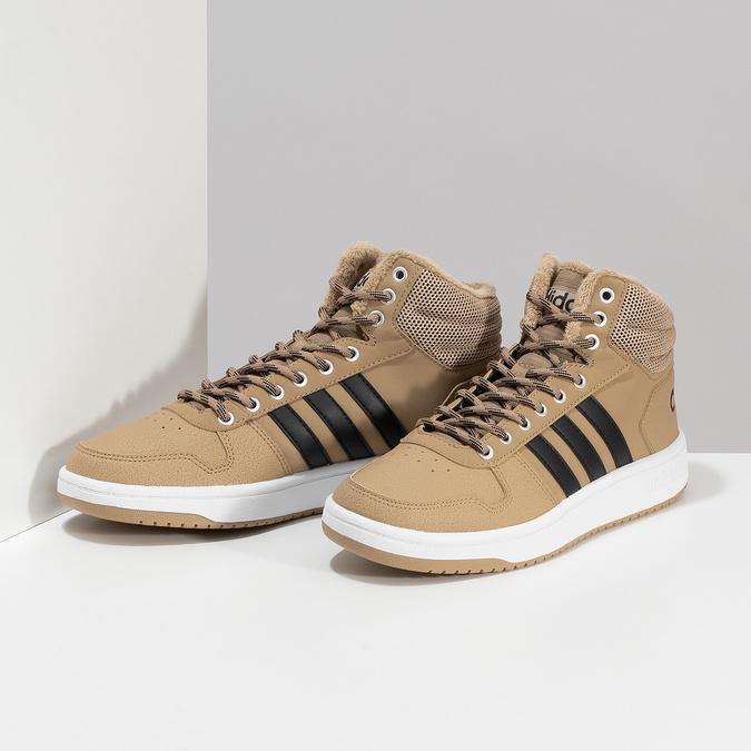 Zimní pánské kotníčkové tenisky adidas, hnědá, 801-8104 - 16