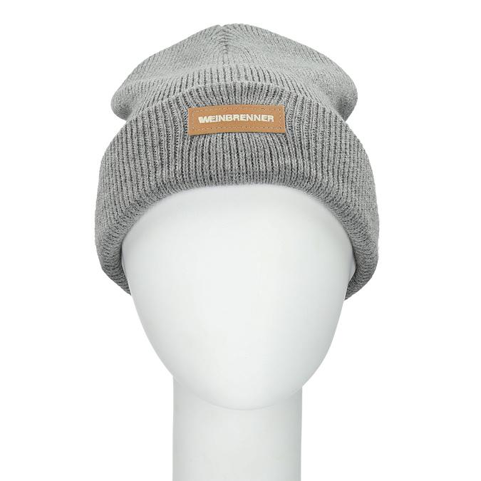 Šedá pánská čepice weinbrenner, šedá, 909-2727 - 26