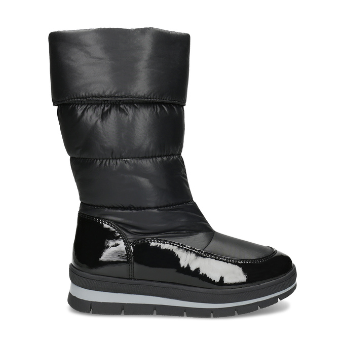 Dámská černá zimní obuv  s výraznou podešví bata, černá, 599-6622 - 19