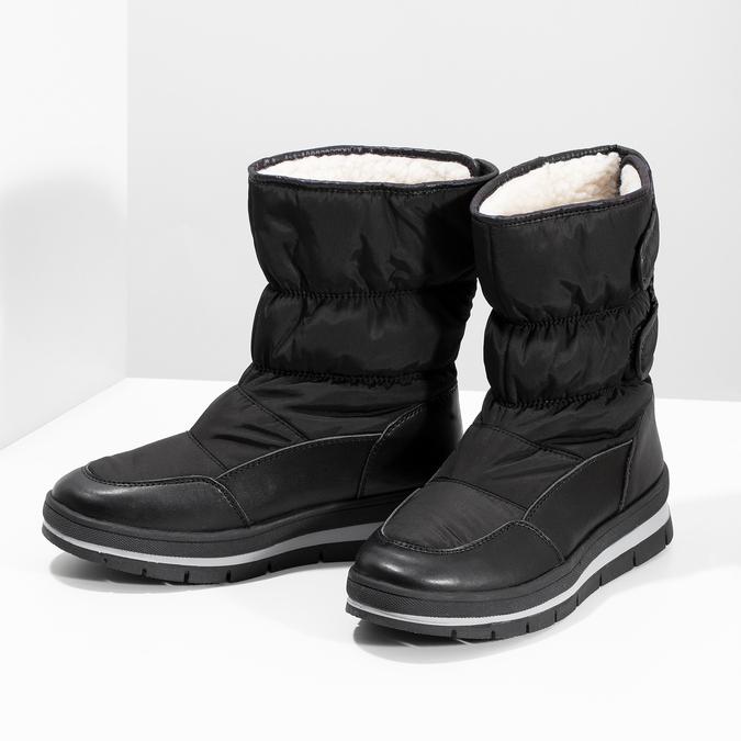 Černé dámské sněhule s výraznou podešví bata, černá, 599-6625 - 16