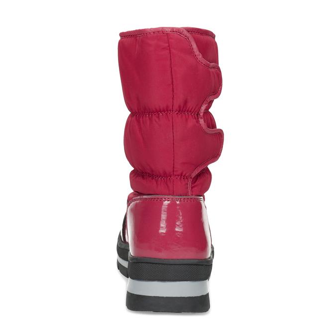 Červené dámské sněhule s černou podešví bata, červená, 599-5625 - 15