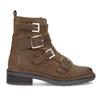 Hnědá kožená kotníková obuv s přezkami bata, hnědá, 596-4735 - 19