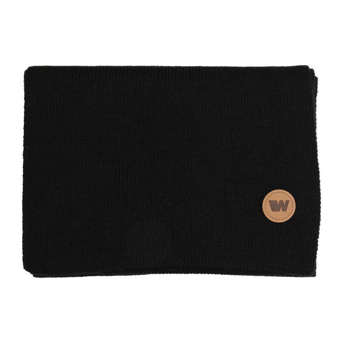 Černá šála s hnědým detailem weinbrenner, černá, 909-6729 - 13