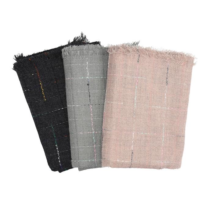 Dámský šátek s jemnou kostičkou bata, vícebarevné, 909-0715 - 13