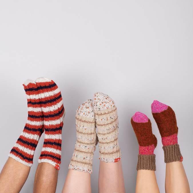 Ponožky od babičky S/M bata, vícebarevné, 919-0754 - 17