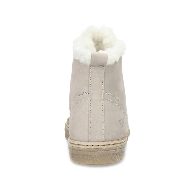 Kožená kotníčková zimní obuv s kožíškem weinbrenner, béžová, 596-8730 - 15