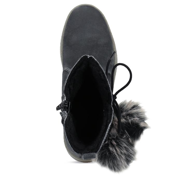 Šedá dámská kožená zimní obuv weinbrenner, šedá, 596-2749 - 17