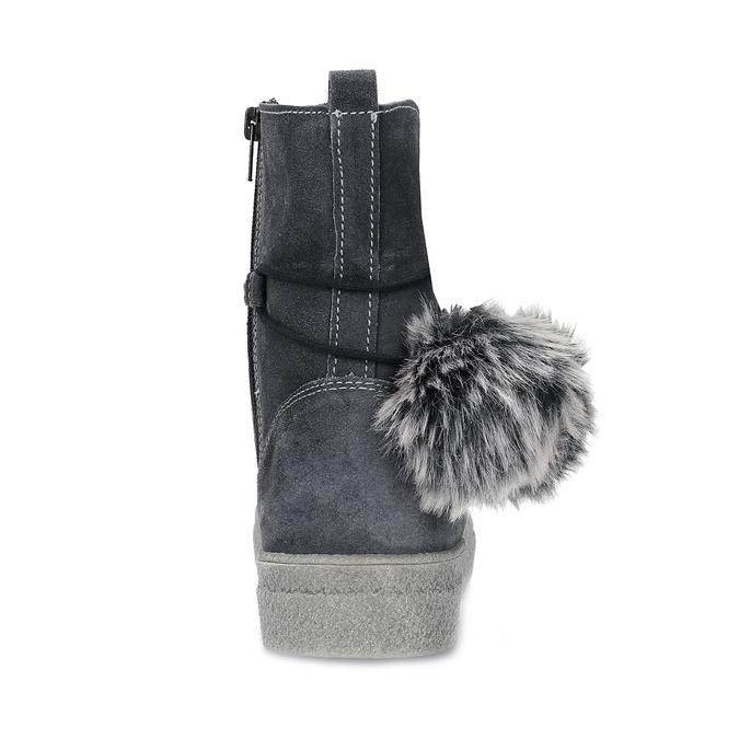 Šedá dámská kožená zimní obuv weinbrenner, šedá, 596-2749 - 15