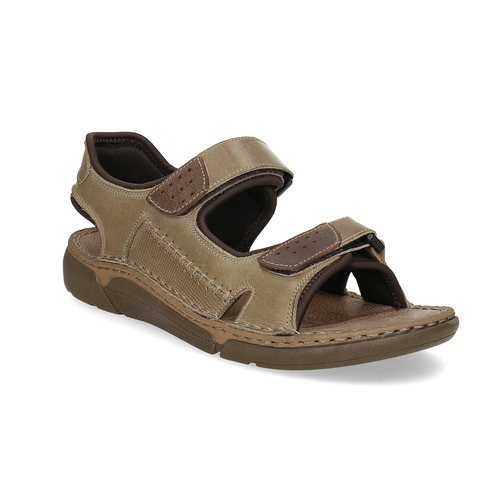 Kožené pánské sandály černo-modré weinbrenner, hnědá, 866-4643 - 13