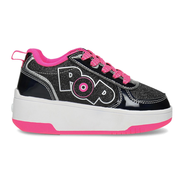 Pop by Heelys Černé dětské tenisky na kolečkách - Všechny dětské ... d4a5d0495c