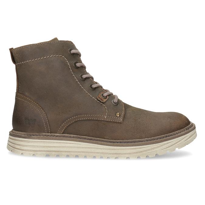 Pánská kotníčková obuv z broušené kůže weinbrenner, hnědá, 896-4734 - 19