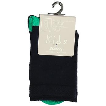 Dětské vysoké zelené ponožky bata, zelená, 919-7686 - 13