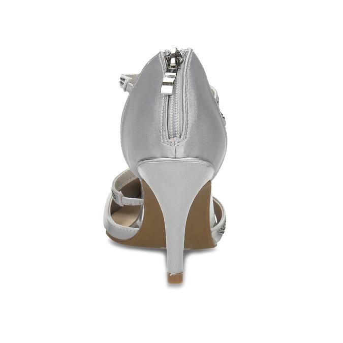 Stříbrné dámské sandály na jehlovém podpatku insolia, stříbrná, 729-1634 - 15