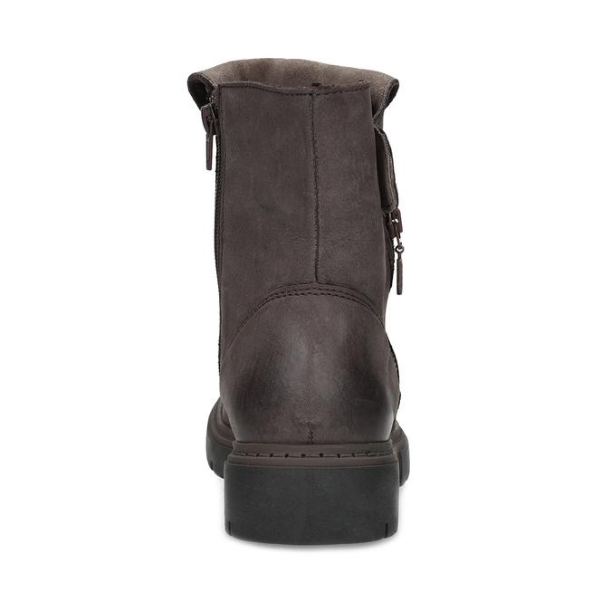 Kožená hnědá dámská obuv weinbrenner, hnědá, 596-4759 - 15
