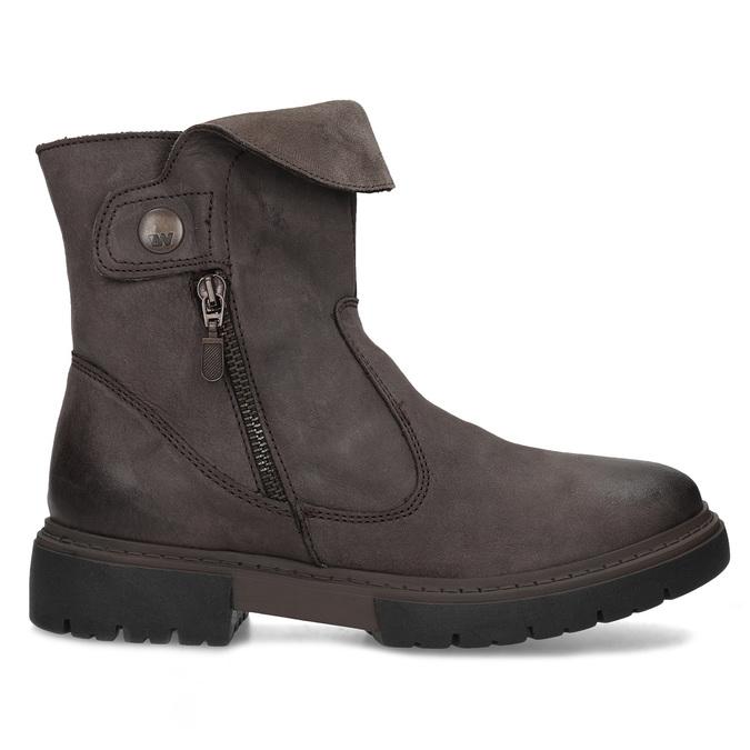 Kožená hnědá dámská obuv weinbrenner, hnědá, 596-4759 - 19
