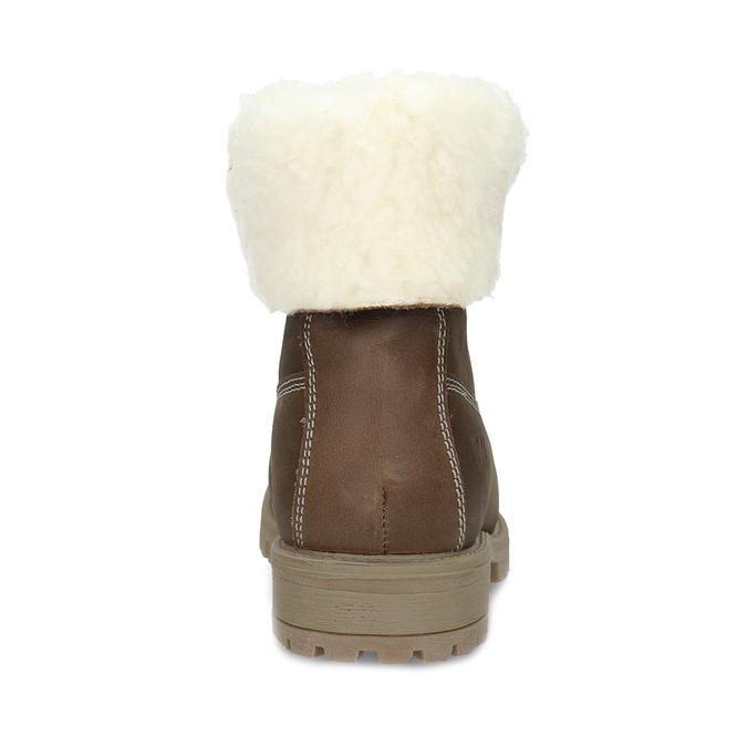 Dámská hnědá kožená zimní obuv weinbrenner, hnědá, 596-3743 - 15