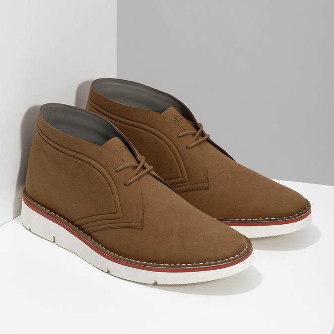 Ležérní hnědá pánská Desert Boots obuv bata-b-flex, hnědá, 899-3600 - 26
