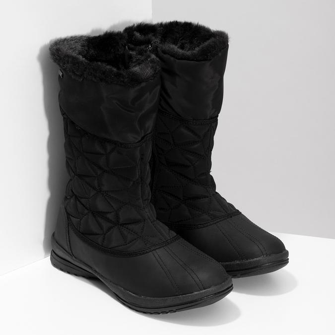 Dámská černá zimní obuv s prošíváním bata, černá, 599-6624 - 26