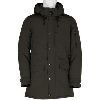 Pánská dlouhá khaki bunda s kapucí bata, zelená, 979-7366 - 13