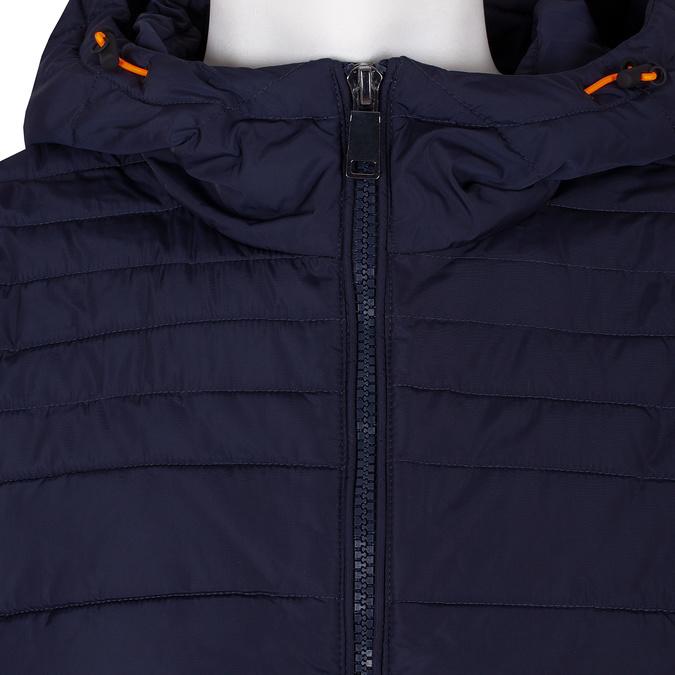 Modrá prošívaná bunda s oranžovými detaily bata, modrá, 979-9430 - 16